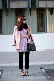 hallie daily,t-shirt,jacket,bag,jeans,shoes,sunglasses