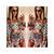 Women's Print Round Neck Waist Hollow Out Print Jumpsuit - $15.53