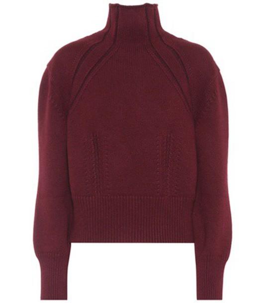 Bottega Veneta Wool and cashmere-blend sweater in red