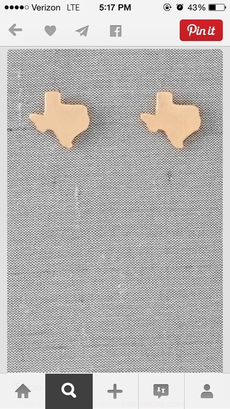 jewels texas studs gold