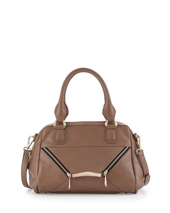 rian Signe Zipped Envelope Satchel Bag, Taupe