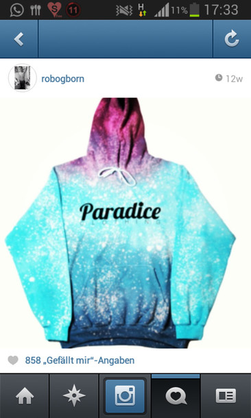 Sweater: galaxy print, hoodie, paradice, nike - Wheretoget