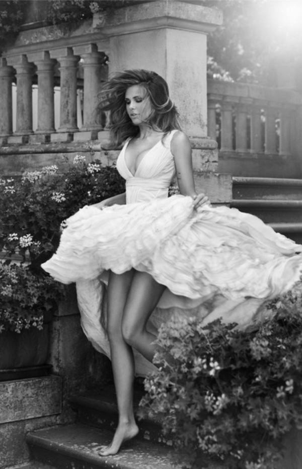dress wedding dress prom dress white dress v neck dress