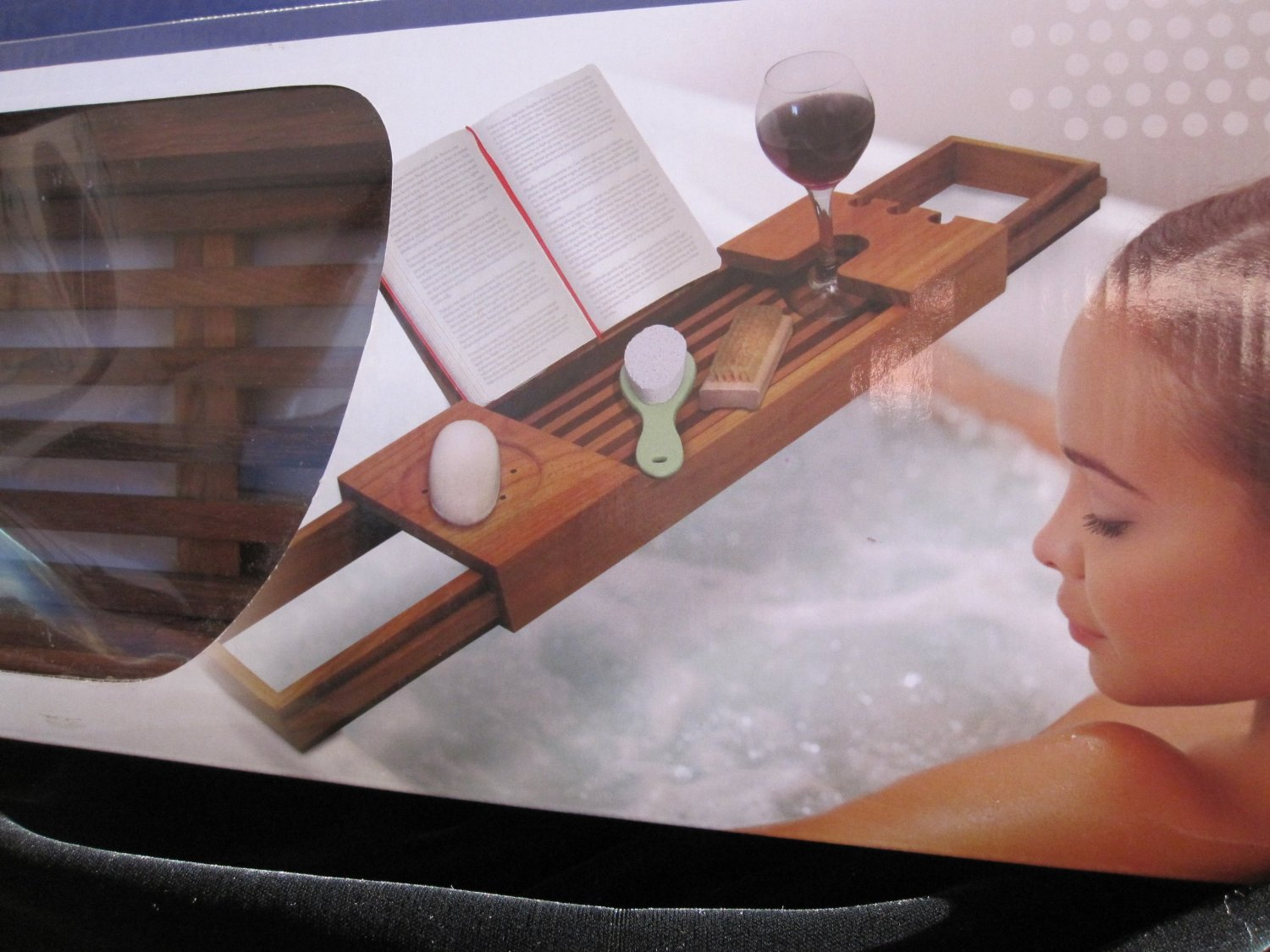 Amazon.com - Blissful Bath TEAK Tub Tray Caddy -