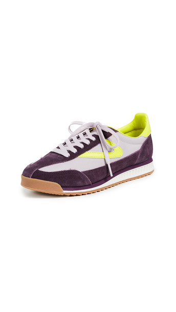 sneakers yellow lilac shoes