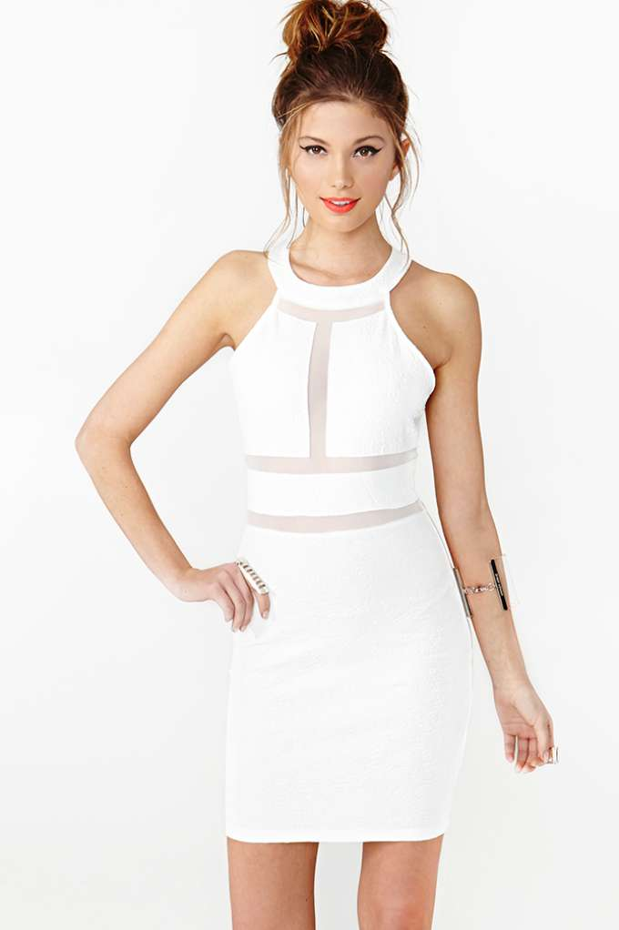 Paisley Mesh Dress  in  Clothes Dresses at Nasty Gal