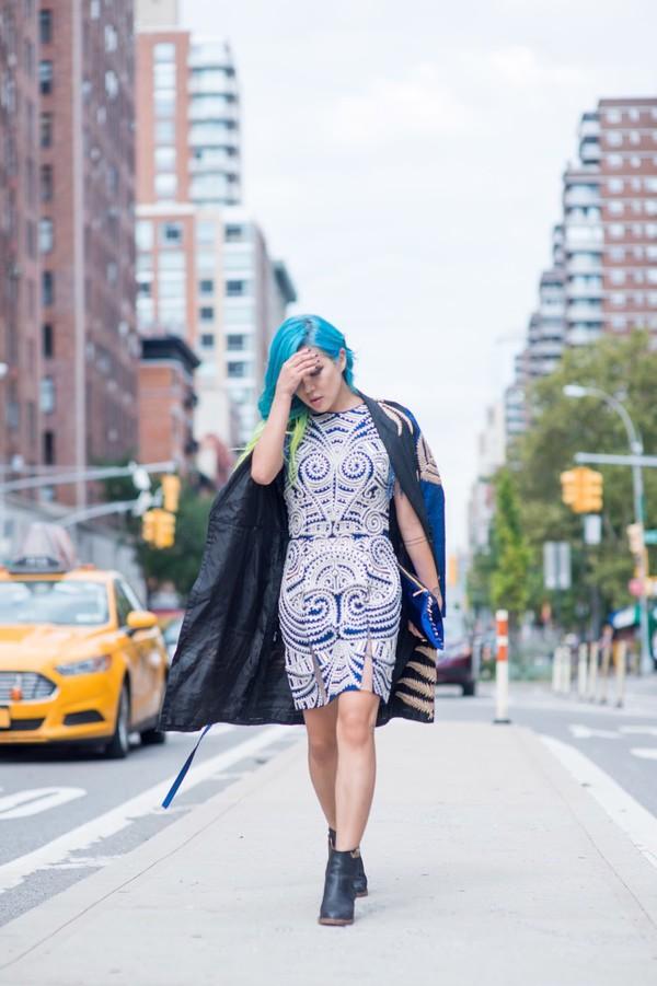 feral creature blogger dress coat bag shoes
