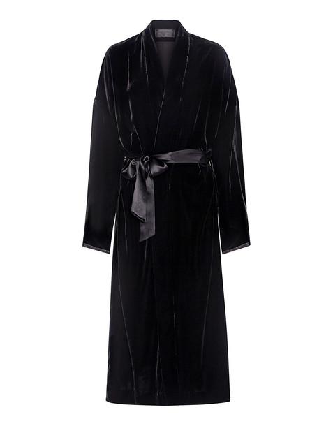 Nili Lotan coat black velvet