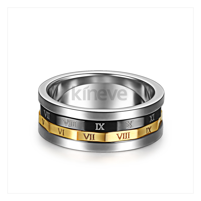 Rome Password Men Rotatable Ring - Wishbop.com