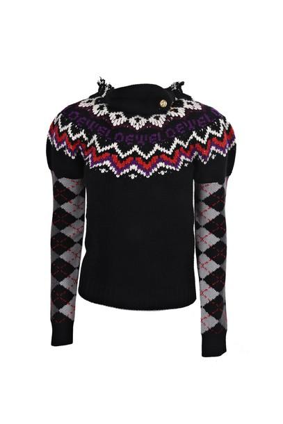 LOEWE sweater black multicolor