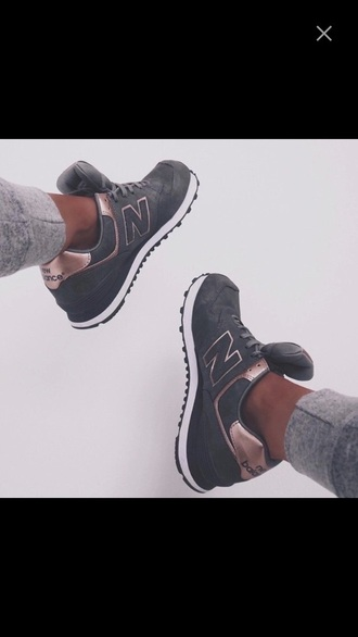 shoes rose gold new balance sneakers grey