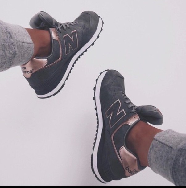 new balance grey and rose