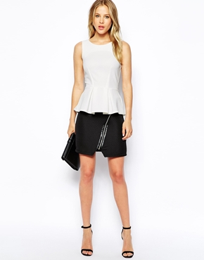 Closet | Closet Textured Peplum Top at ASOS
