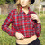 Cropped Plaid Flannel-Red | Obsezz