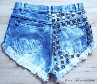 shorts jeans vintage acid wash denim studded shorts levi summer sexy