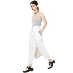White sackcloth long pants / back order – holypink