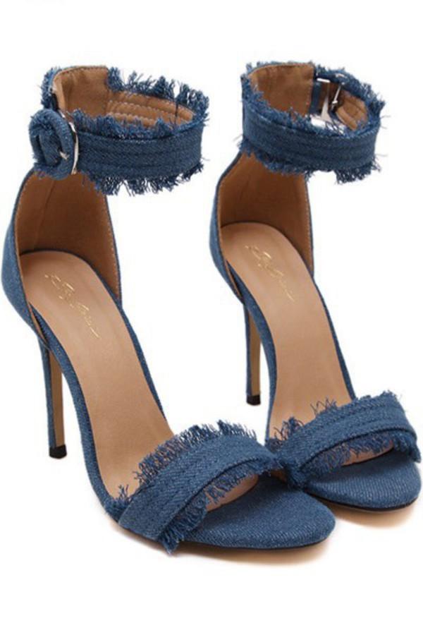 shoes light blue stilettos high heel sandals