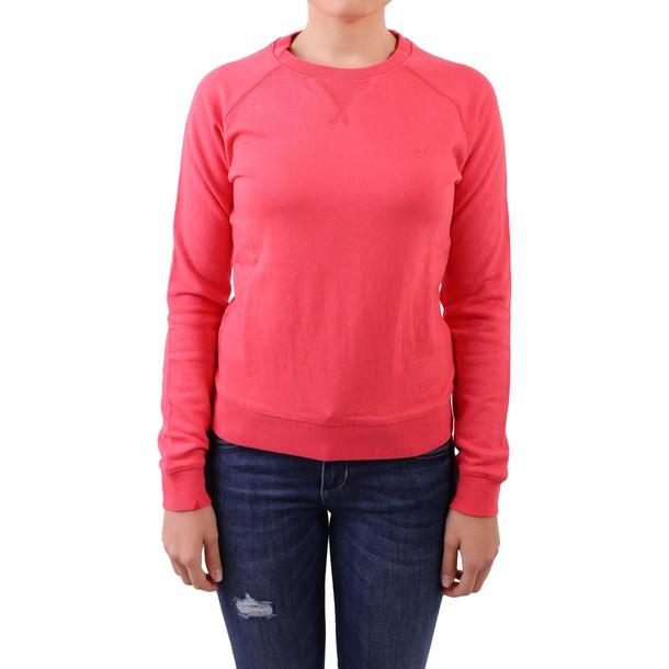Sun 68 sweatshirt cotton dark pink sweater