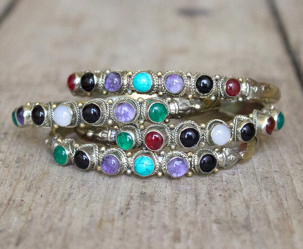 jewels cuff bracelets stones silver bohemian boho chic jewelry joah brown
