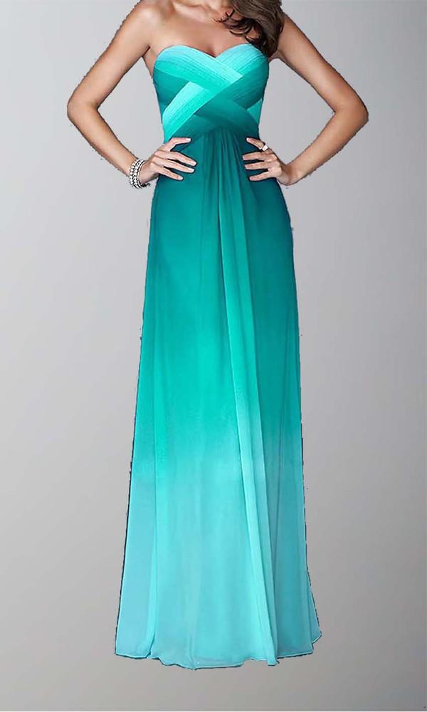 fashion dress prom dress ombre long prom dress open back prom dress sexy dress