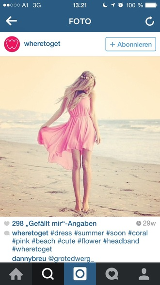 dress pink dress pink cute beach dress style trendy perfect perfecto