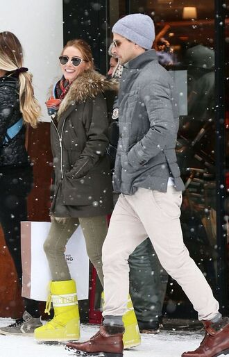 olivia palermo winter coat winter boots coat