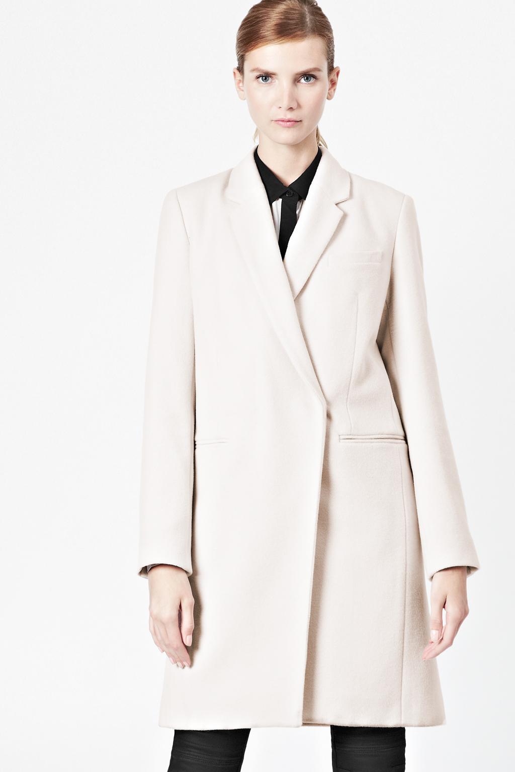 Evita Wool Classic Coat - Jackets & Coats - French Connection