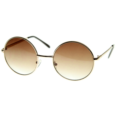 Designer Medium Round Metal Fashion Sunglasses 8570                           | zeroUV