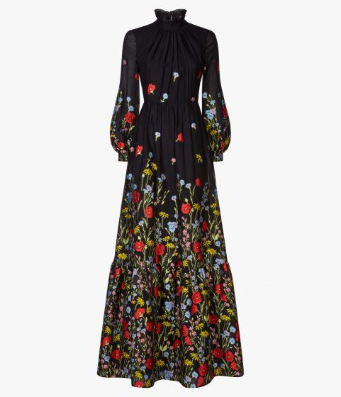 Clementine Gown Poppy Cotton Fil Coupe