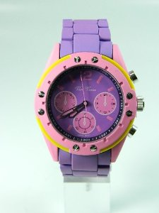 Amazon.com: Vice Versa Purple & Pink Stainless Steel Unisex Watch: Jewelry
