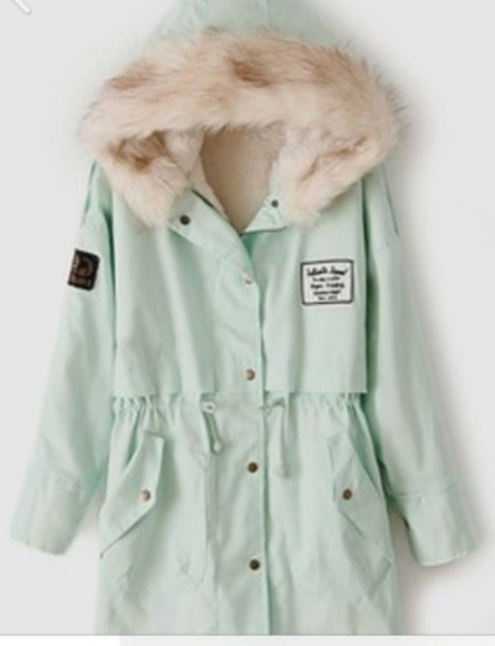 mint jacket coat green gorgeous winter outfits winter coat winter jacket winterwear beautiful