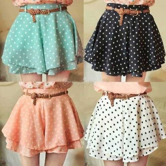 skirt dots green shirt