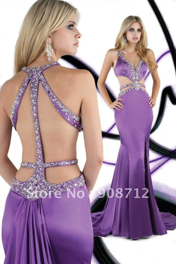 Hot Sell ! Attractive Mermaid Halter Strappy Back Designer Prom ...