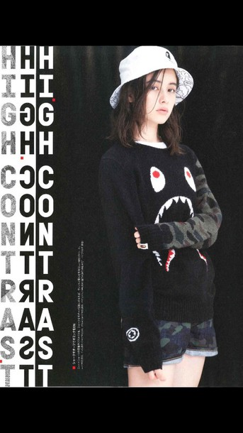 sweater supreme bathing ape shark