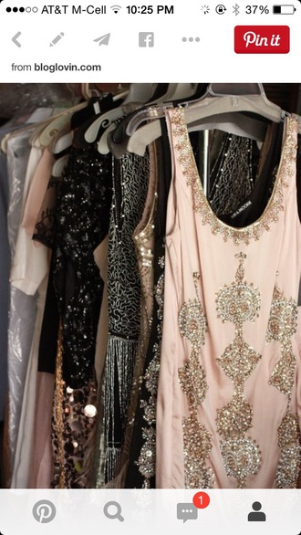 dress mini sparkly dres great gatsby dress sparkels sparkly dress beaded beaded dress beaded short dresses beaded party dresses mini dress pink dress 50s style vintage dress nye new year's eve party 2015 2016
