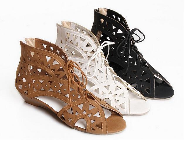 Geometric cut out boho sandals · love, fashion struck ·