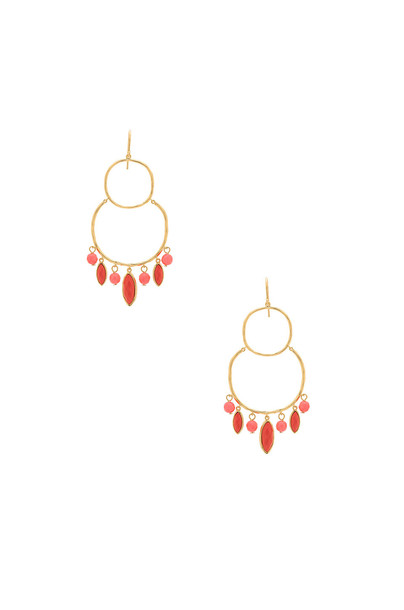 gorjana Eliza Tiered Chandelier Earrings in gold / metallic