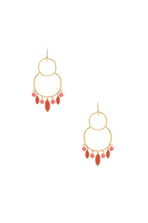 gorjana Eliza Tiered Chandelier Earrings in gold / metallic