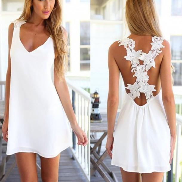 7f4b84ed44ab dress haute rogue open back dresses summer dress mini dress skater dress  lace dress crochet dress