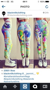 leggings,adventure time,adventure time leggings