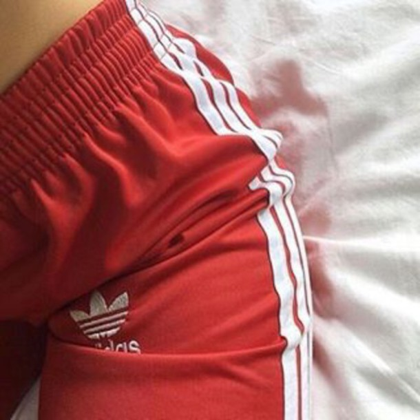 Pants Red Trendy Adidas Shoes Instagram Tumblr Dope Fashion Lavish Luxury Shorts