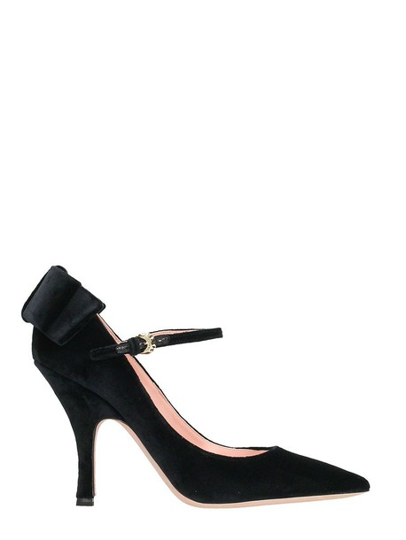 Rochas bow pumps black shoes