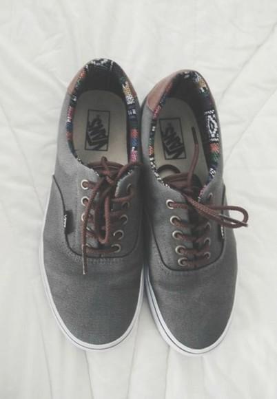 shoes vans skate girl grunge printed vans