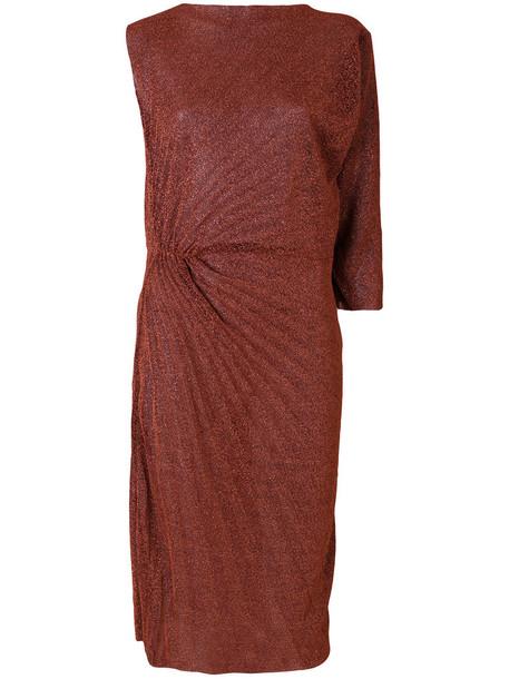A.F.VANDEVORST dress pleated women grey metallic