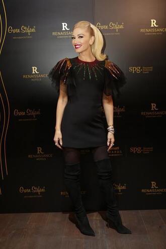 dress mini dress gwen stefani black dress party dress