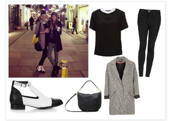 shoes black and white cut out ankle boots eleanor calder