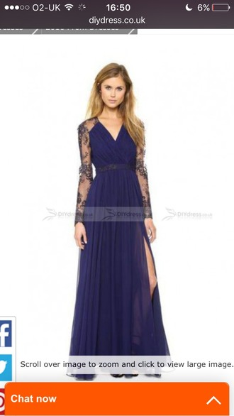 dress navy prom dress long dress crochet
