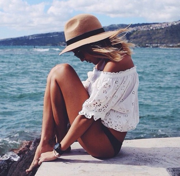 blouse top summer top summer beach white t-shirt white top lace dress fashion style shirt tank top love white lace top