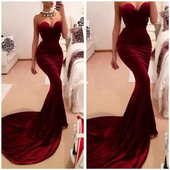 gown wine colored dress sleeveless dress