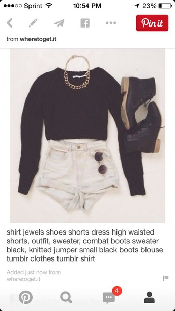 blouse sweater black long sleeve crop topp